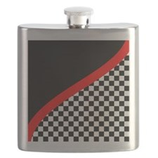 Racing Checkered Design Flask