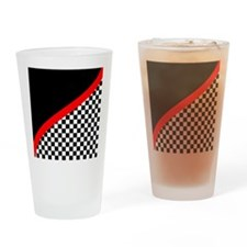 Racing Checkered Design Drinking Glass
