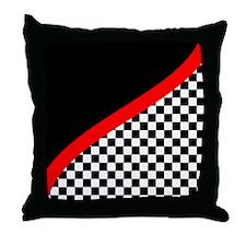 Racing Checkered Design Throw Pillow