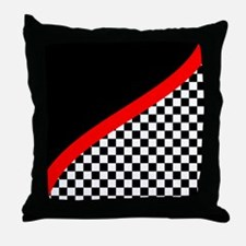 Racing Checkered Design Throw Pillow