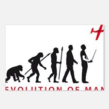 evolution of man with mod Postcards (Package of 8)