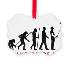 evolution of man with model plane Ornament