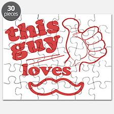 Guy Loves Mustache Puzzle