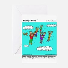 NERDS HEAD SOUTH FOR THE WINT Greeting Cards (Pack