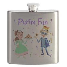 Purim King  Queen Flask