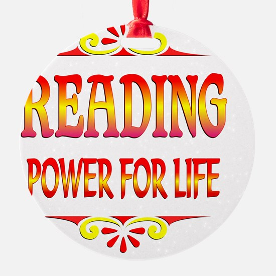 Reading is Power Ornament