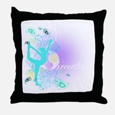 Breathe Yoga Pose Throw Pillow