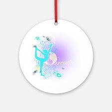 Breathe Yoga Pose Round Ornament