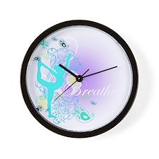 Breathe Yoga Pose Wall Clock
