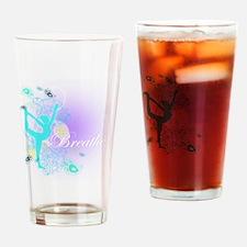 Breathe Yoga Pose Drinking Glass
