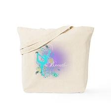 Breathe Yoga Pose Tote Bag