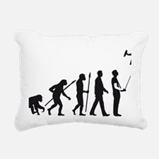evolution of man with mo Rectangular Canvas Pillow