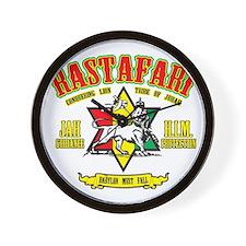 Rastafari Wall Clock