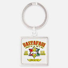 Rastafari Square Keychain