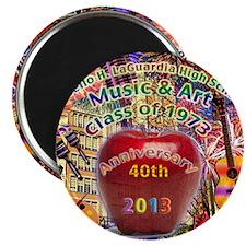 HS of Music  Art 40th Anniversary T-Shirt Magnet