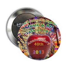 """HS of Music  Art 40th Anniversary T-S 2.25"""" Button"""