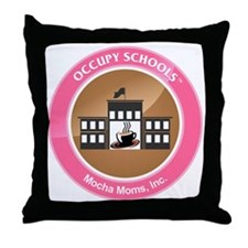 Occupy Schools Throw Pillow
