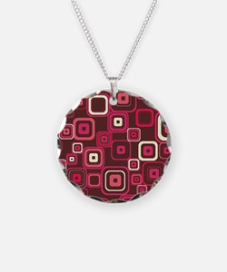 Pink Square Necklace