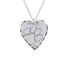 Elles Army Grey Logo Necklace
