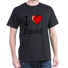 I love David heart tee T-Shirt