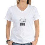 Sew Ho - Sewing Machine Women's V-Neck T-Shirt