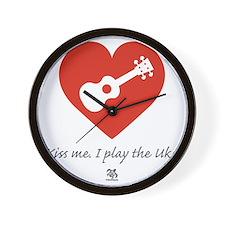 Kiss Me Uke Wall Clock