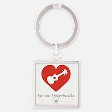 Kiss Me Uke Square Keychain
