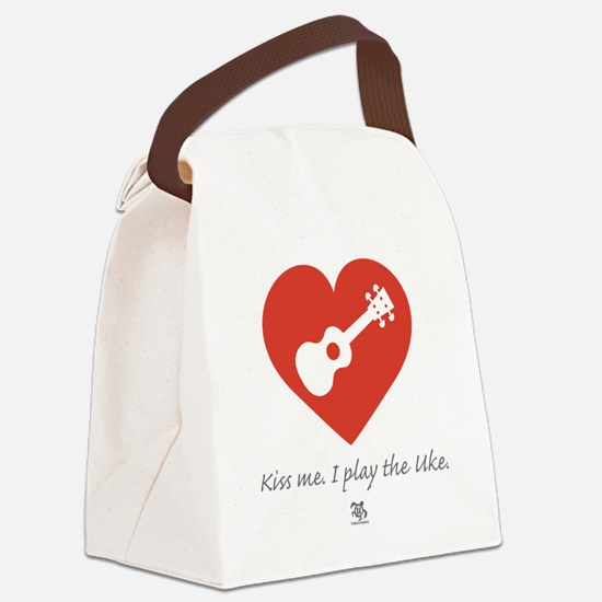 Kiss Me Uke Canvas Lunch Bag