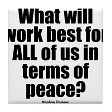 Peace Question iPhone Tile Coaster