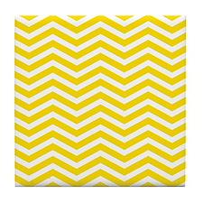 Yellow Zigzag Tile Coaster