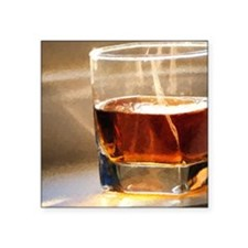 "whisky 2 Square Sticker 3"" x 3"""