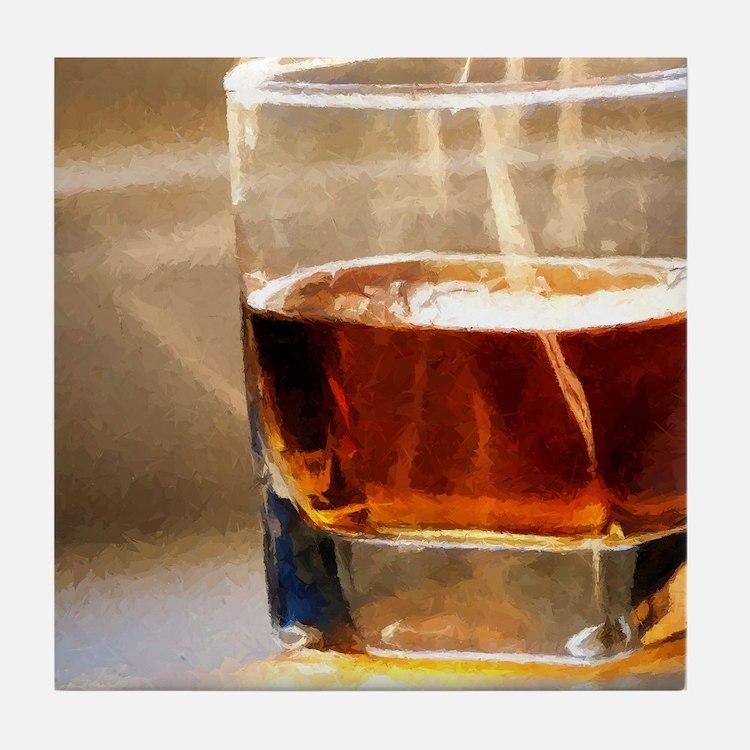 whisky 2 Tile Coaster