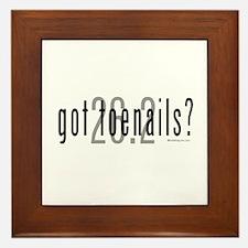 26.2 - Got Toenails? Framed Tile