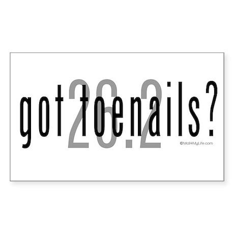 26.2 - Got Toenails? Sticker (Rectangle)
