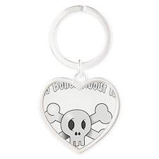 No Bones About It Heart Keychain