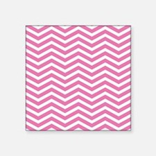 "Pink Zigzag Square Sticker 3"" x 3"""