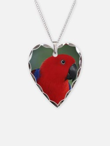 Eclectus Parrot Valentine Necklace