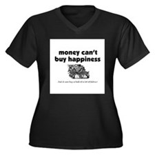 Money Can't Buy Happiness - F Women's Plus Size V-