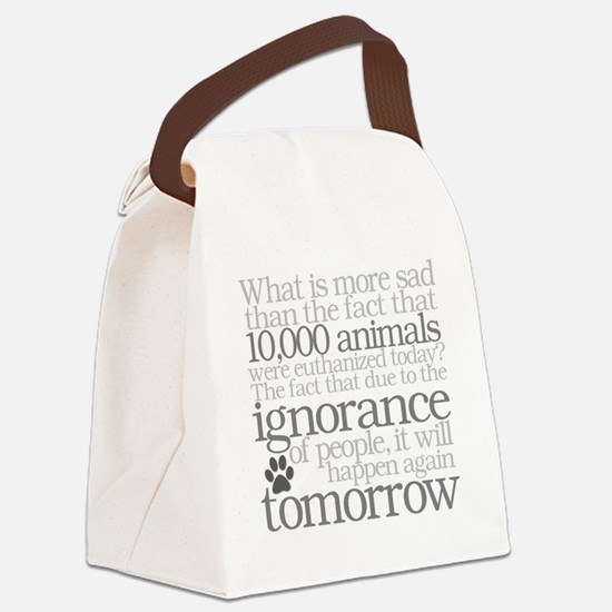Save The Animals Canvas Lunch Bag