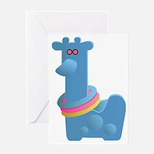 Giraffe Ring Toss Toy Greeting Card