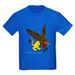 Gryphon Gold and Brown Kids Dark T-Shirt