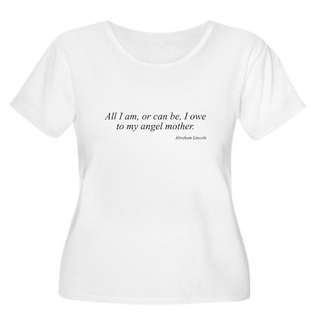 Abraham Lincoln quote 2 Women's Plus Size Scoop Ne
