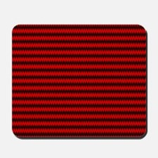 Red and Black Wavy Design Mousepad
