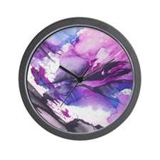 Abstract Mountains Watercolor Wall Clock