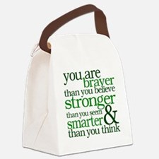 You are stronger than you seem Canvas Lunch Bag