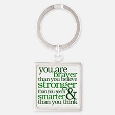 You are stronger than you seem Square Keychain