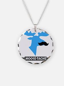 Moose-Tache Mustache Humor Necklace
