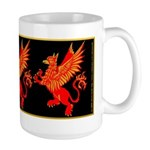 Gryphon Red Gold Large Mug