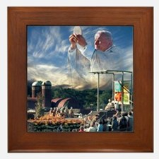 Pope John Paul II Framed Tile