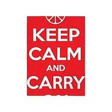 Keep Calm and Carry On (Peacefully) 5'x7'Area Rug